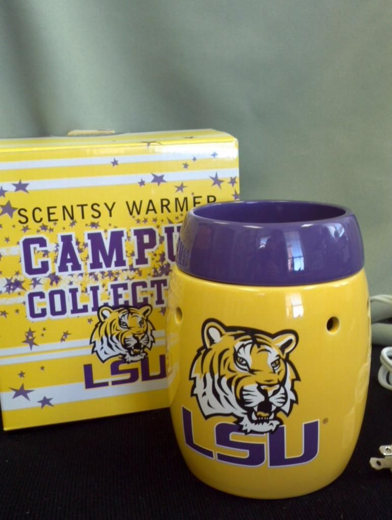 LSU TIGERS!!  SCENTSY!!  Perfect for your favorite TIGER FAN!!!  Visit my website:  https://babettegriffin.scentsy.us    #LSU #Tigers #Scentsy