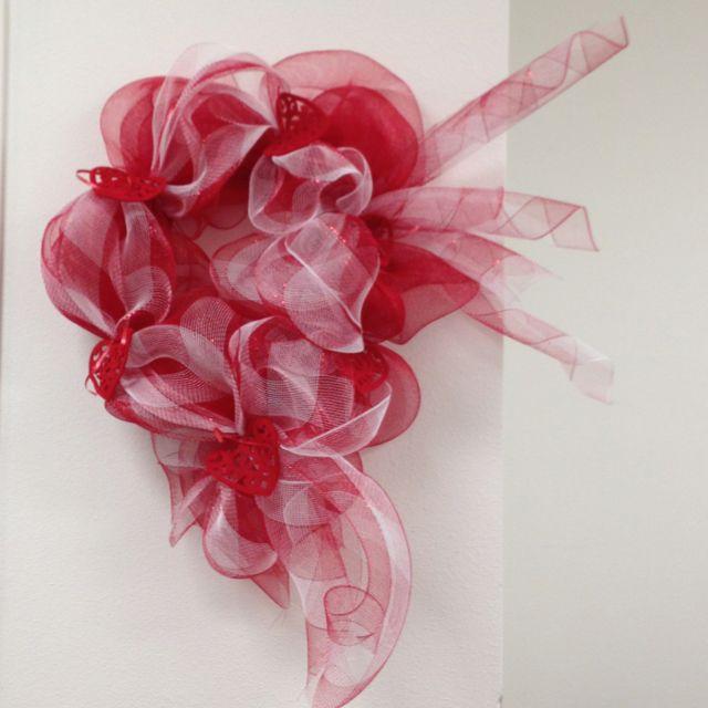 Front door valentines wreath | valentines | Pinterest ...