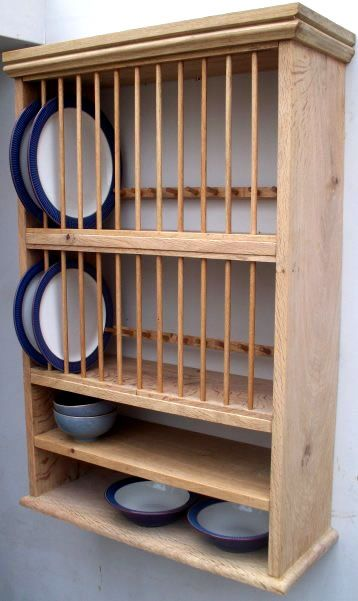 Stroud Oak In 2020 Plate Racks In Kitchen Plate Racks Wood Kitchen