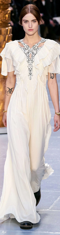 Fall 2020 Rtw Chloe White Long Evening Ruffled Dress With Short Sleeves Empire Waist Dresses Fashion Short Dresses [ 3000 x 775 Pixel ]
