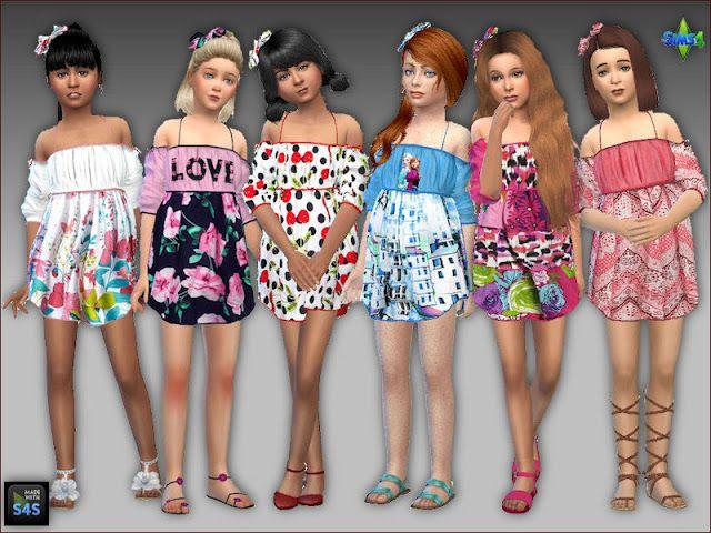 Photo of Sommerkleider und Haarschleifen für Mädchen/Summer dresses and hair bows for g…