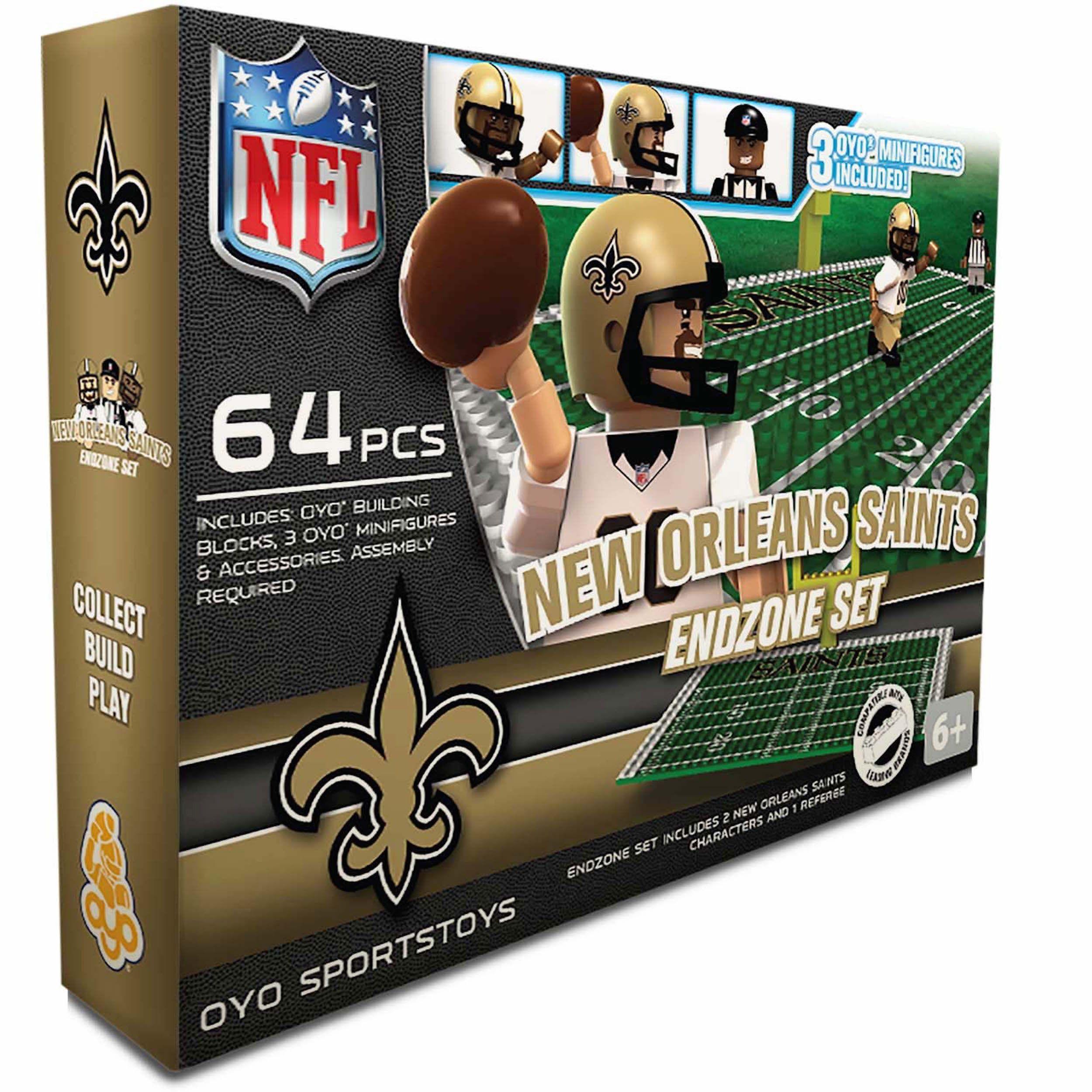 aa5d54d0 Oyo NFL New Orleans Saints 64-Piece End Zone Building Set | Products ...