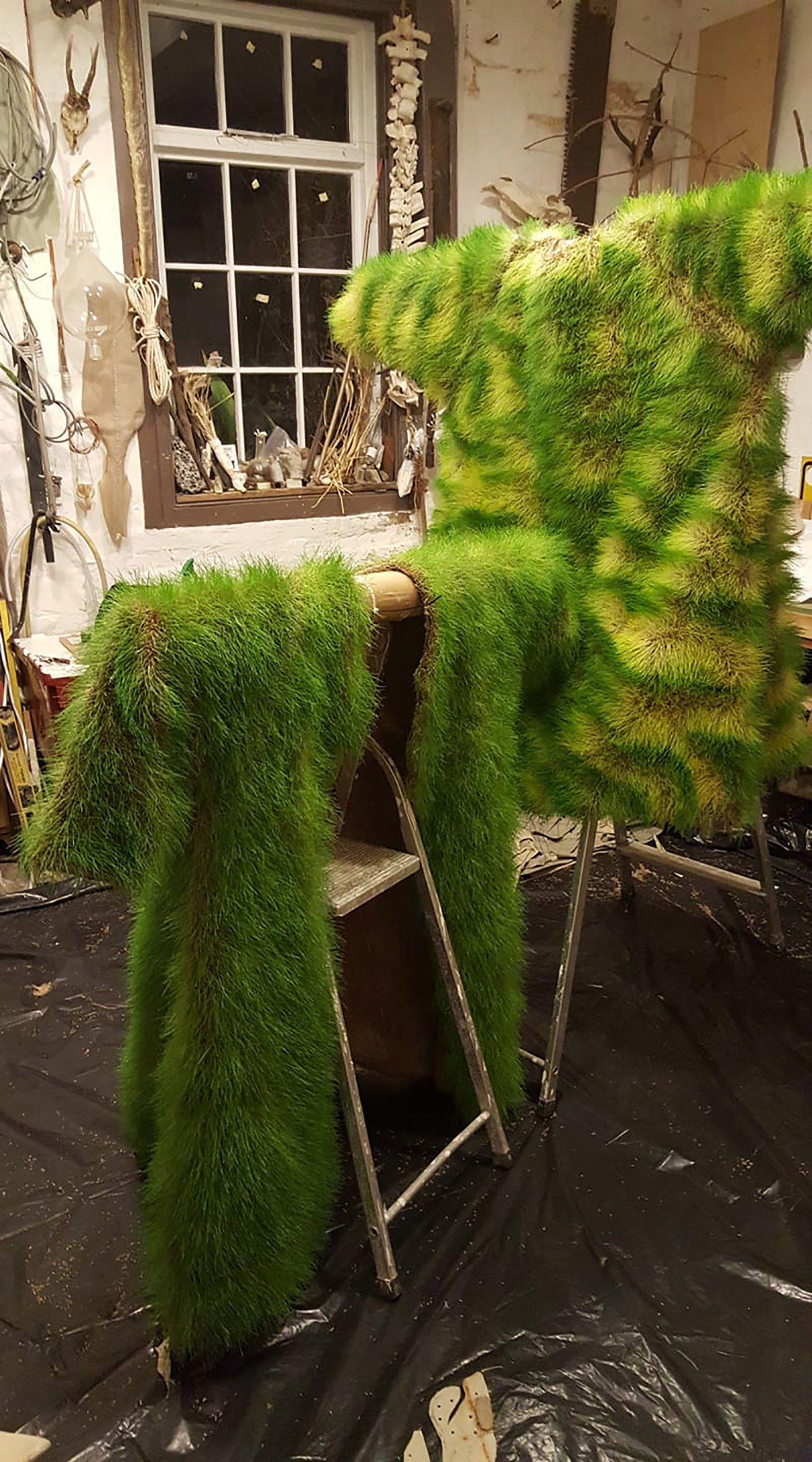 The Coats Worn At The Extinction Rebellion Protests In London Are Made From Fresh Seedling Grass London Protest Grass Weekend Is Over