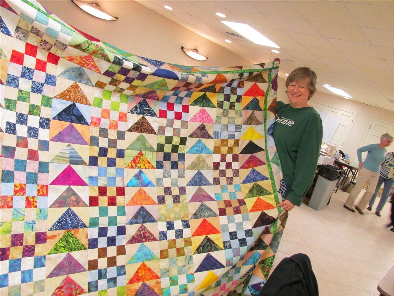 batik triangle quilt - Google Search