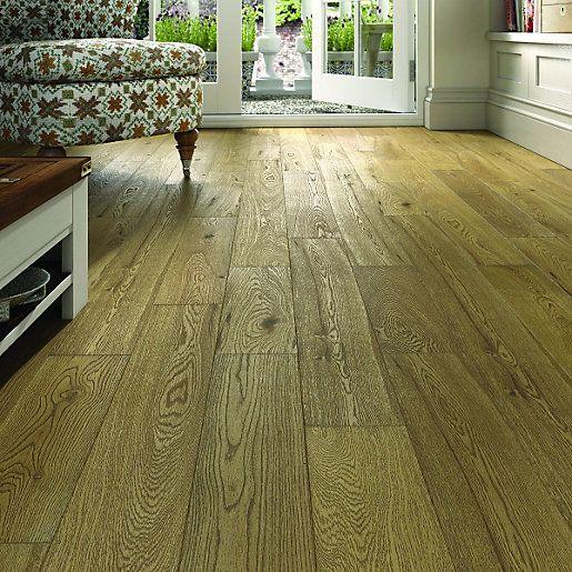 Wickes Cafe Oak Solid Wood Flooring | Solid wood flooring, Solid ...