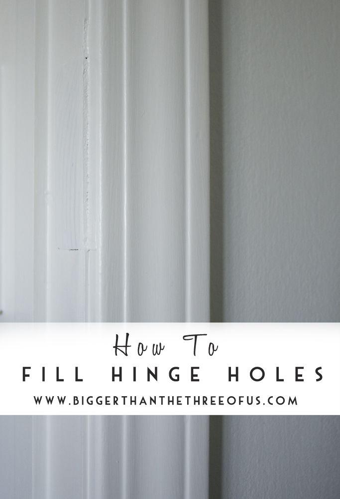 How To Fill Hinge Holes Door Frame Molding Wood Repair Door Frame
