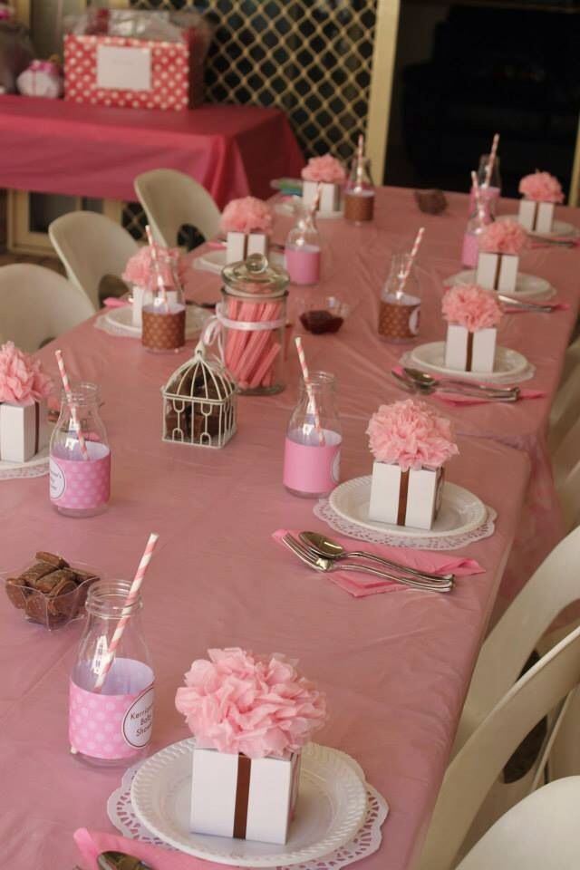 Baby shower table setting ideas Baby shower table setting