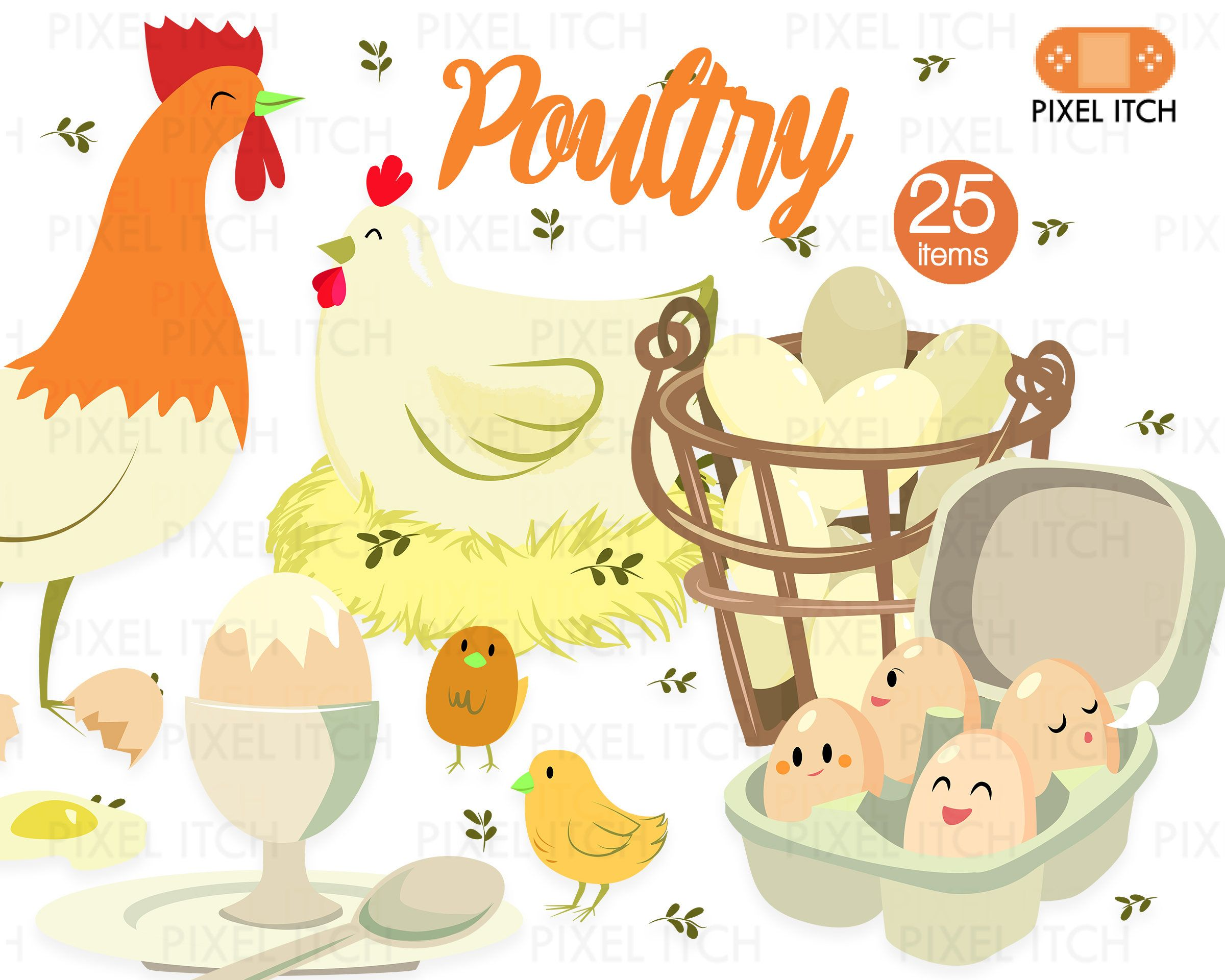 poultry illustration farm clipart farm produce chicken clipart rooster clipart nest clipart egg basket clipart cooking egg dishes recipe by  [ 2400 x 1920 Pixel ]