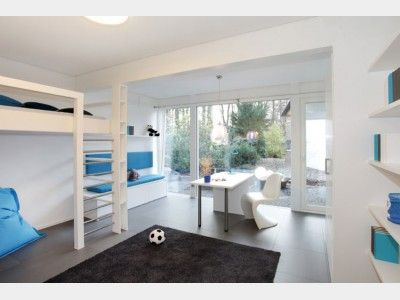 moderne bürosofas modernes jugendzimmer in weiß und blau hausansicht davinci musterhaus bad vilbel via hausxxl moderne