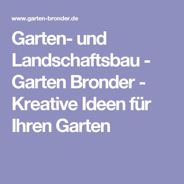 Garten- und Landschaftsbau - Garten Bronder - Kreative Ideen für Ihren Garten