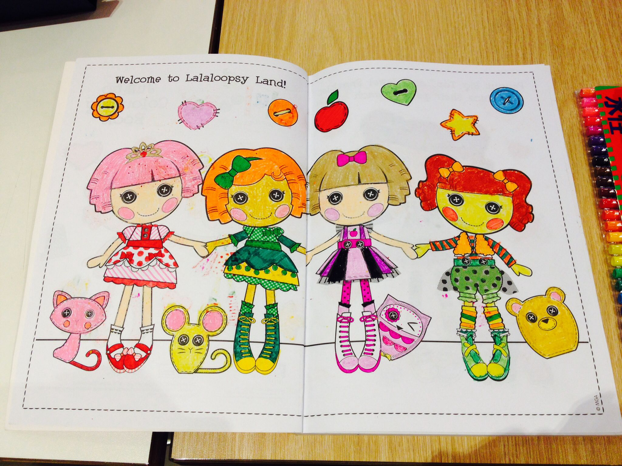 Lalaloopsy coloring book-page 2 | My Colorful Journey | Pinterest