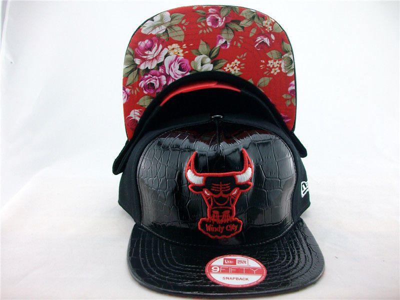 Chicago bulls hat red black bulls fitted cap bull snapback
