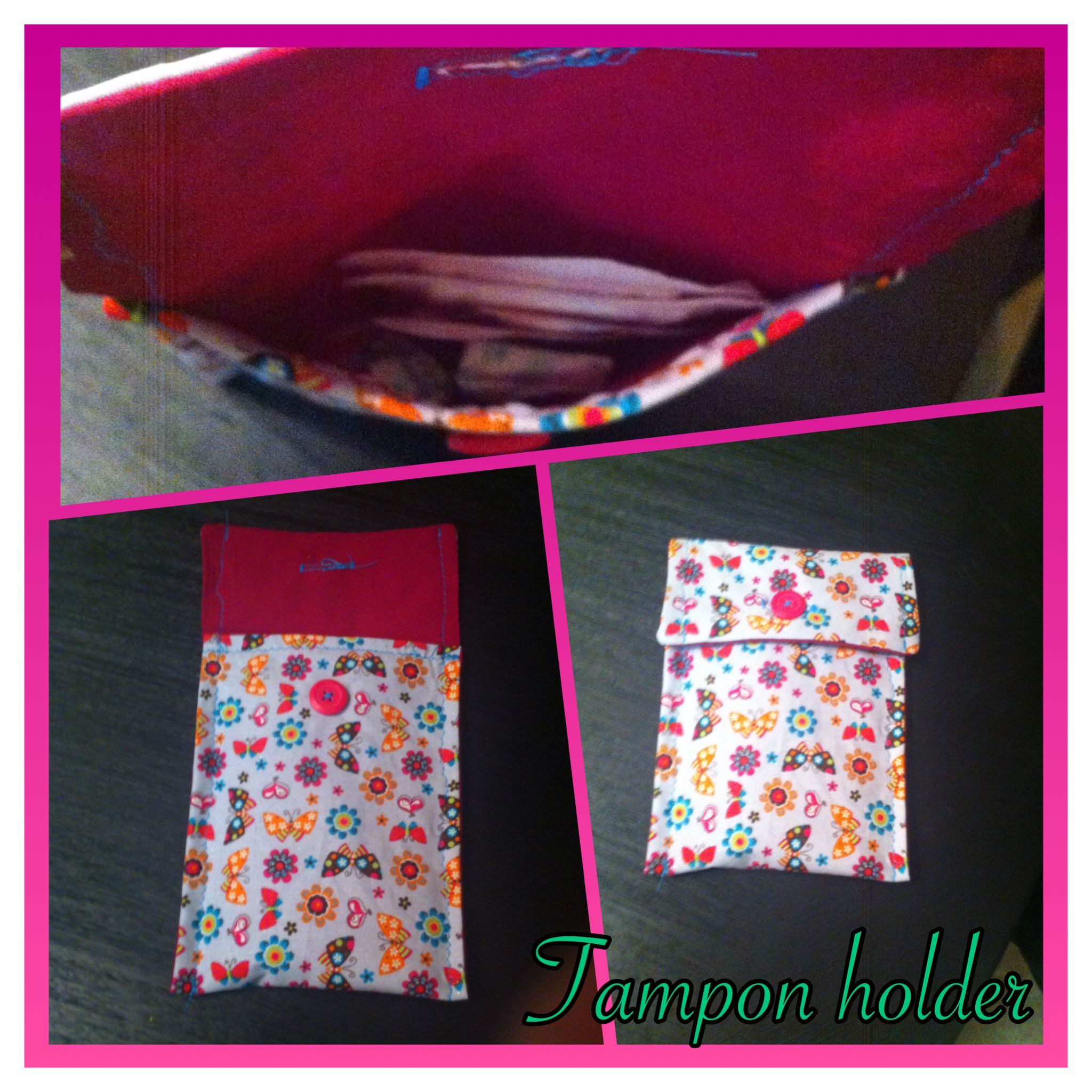 Diy Tampon Holder Cute And Functional Can Hold Tampons Liners Pads Includes On Hole For Secure Closure Great Purse Gym Bag Etc