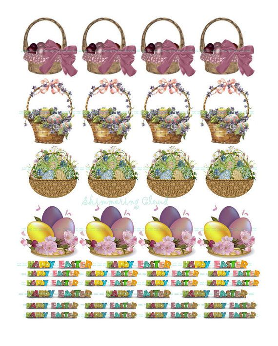 Gift tags cutout eggs easter basket quote words collage gift tags cutout eggs easter basket quote words by shimmeringcloud 200 negle Image collections