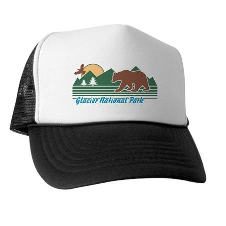 cdde8bb470f26 Glacier National Park Trucker Hat