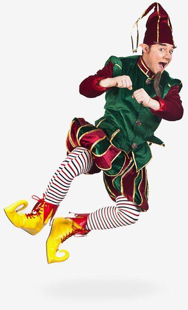 Weihnachtself: Die Schuhe, Mütze und Strümpfe durften nicht schwierig sein.