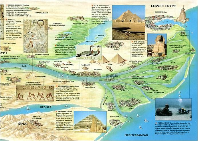 Egypt Blue And White Nile Prehistory To History Egypt - Map of egypt nile delta