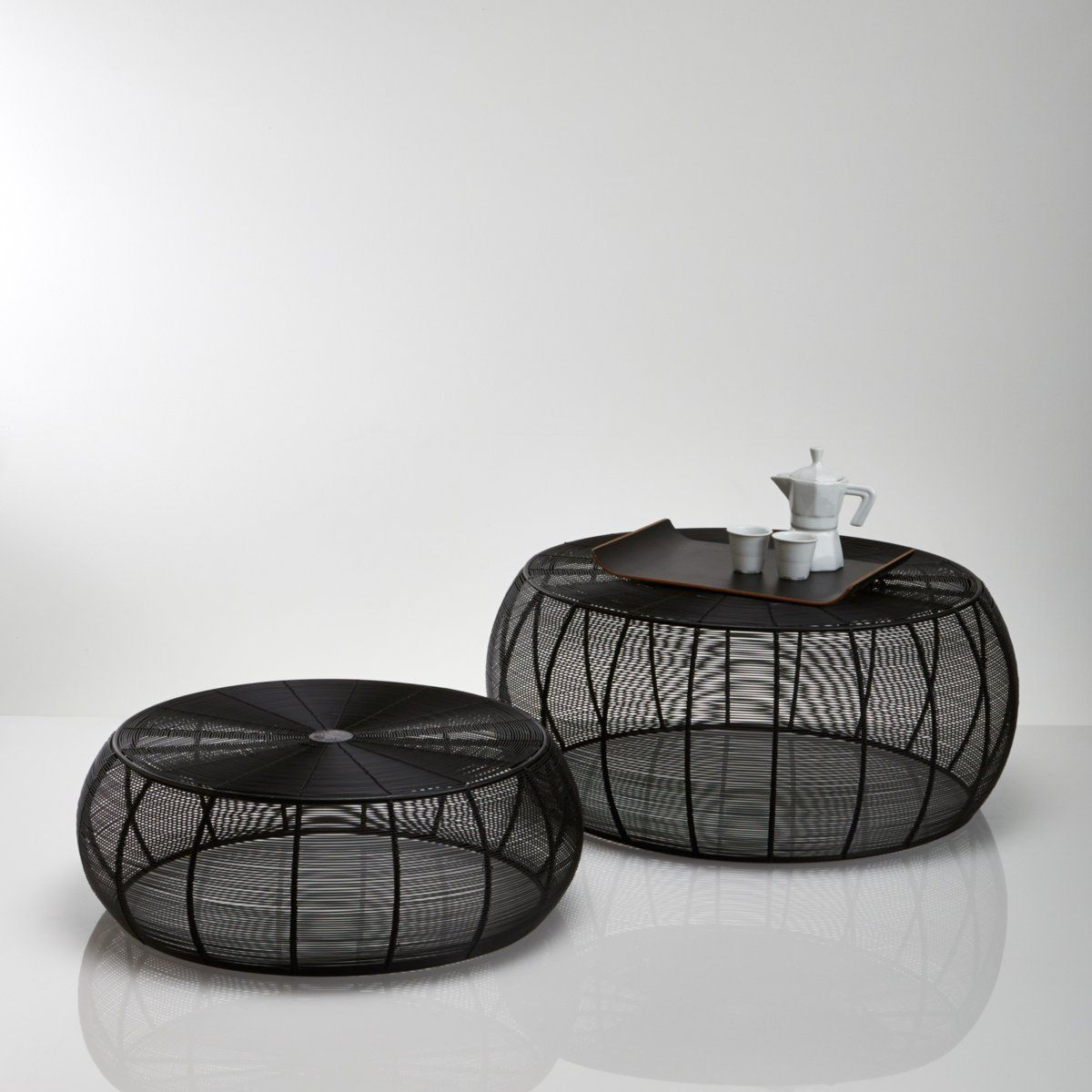 table basse ronde acier filaire bangor la redoute coin. Black Bedroom Furniture Sets. Home Design Ideas