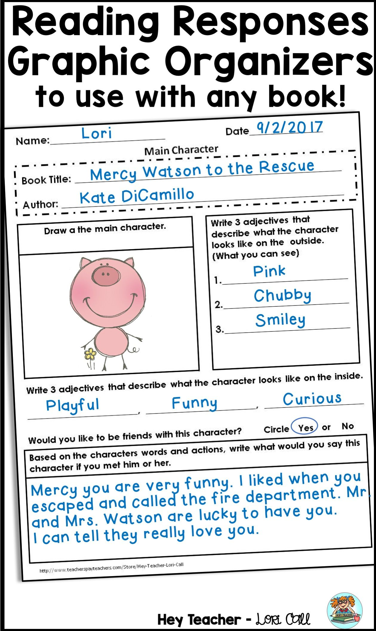 worksheet Reading Response Worksheets reading responses and graphic organizers for any book across the logs responses