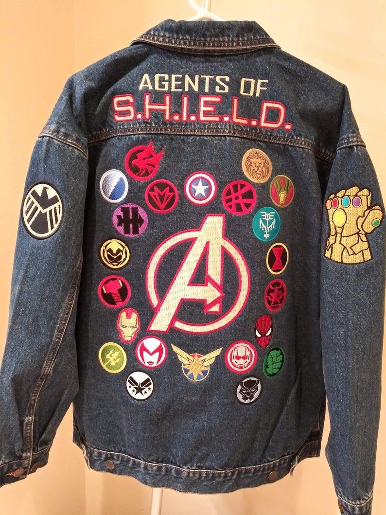 Marvel Universe Avengers Agents Of S H I E L D Superhero Jean Jacket Marvel Clothes Marvel Fashion Avengers Outfits [ 1059 x 794 Pixel ]
