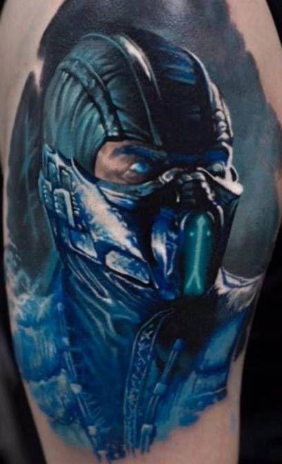 sub zero scorpion mortal kombat tattoo