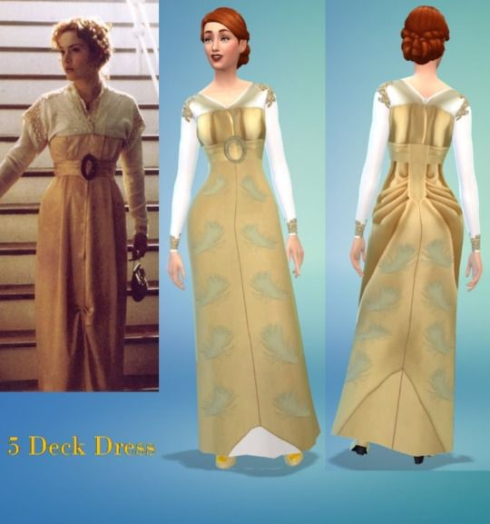 The Historical Sim Titanic Dress Sims 4 How To Make Skirt