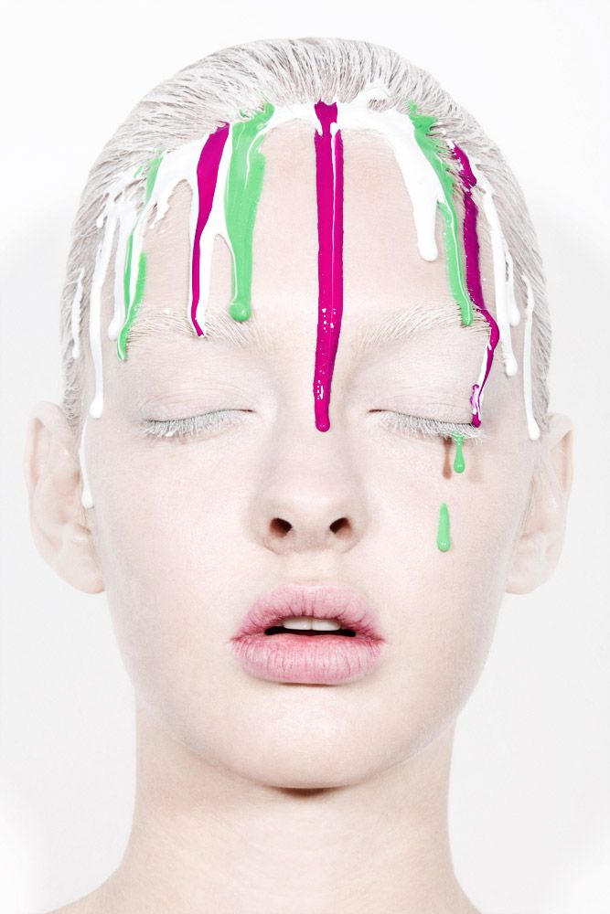 Jamie Nelson Dripping Paint 2 Graphic Makeup Photographic Makeup Fashion Makeup