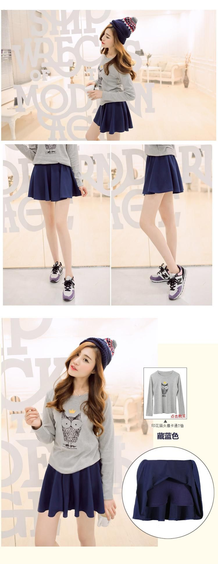 48704955a2 Summer Style Korean Version Skirts Safty Mini Skirt Women's Spring and  Summer Solid High Waist Pleated All Match Short Skirt