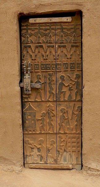 Porte Traditionnelle Dogon Mali Portes Anciennes Porte