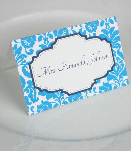 Wedding Place Card Templates – Rococo Design | Pinterest