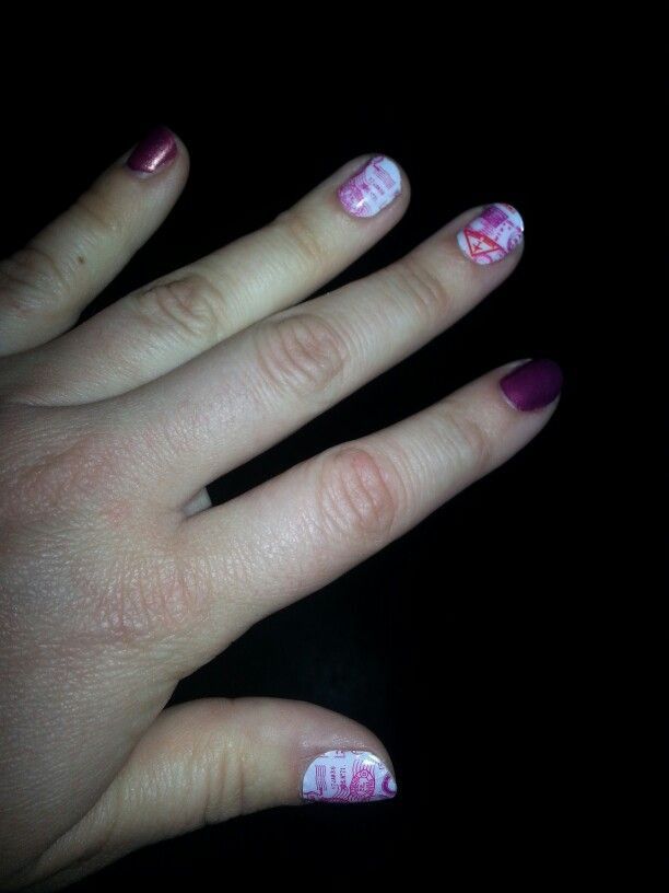 Jamberry passport accent nails -  anna.horton.jamberrynails.net