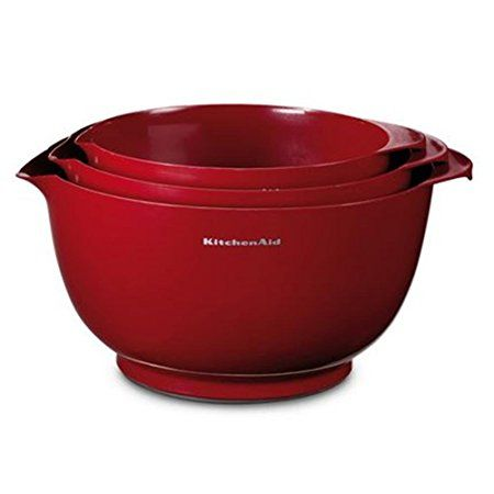 KitchenAid KG175ER Rührschüsseln, Kunststoff, 25 x 25 x 14,5 cm - kitchenaid küchenmaschine artisan rot