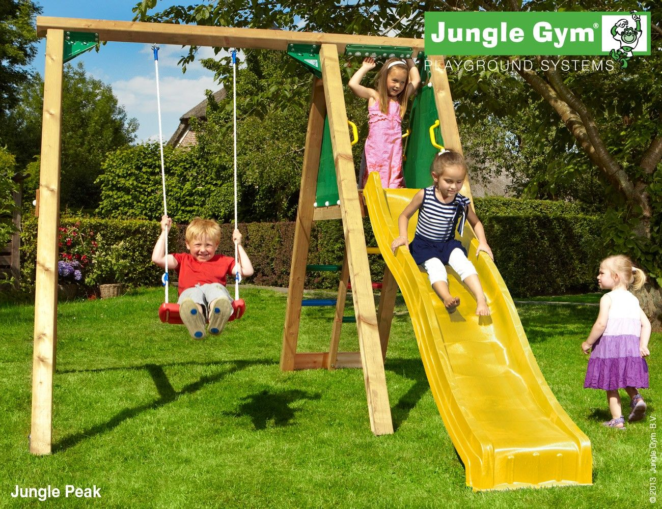 Swing set by Jungle Gym - Jungle Peak | Accessories | Pinterest