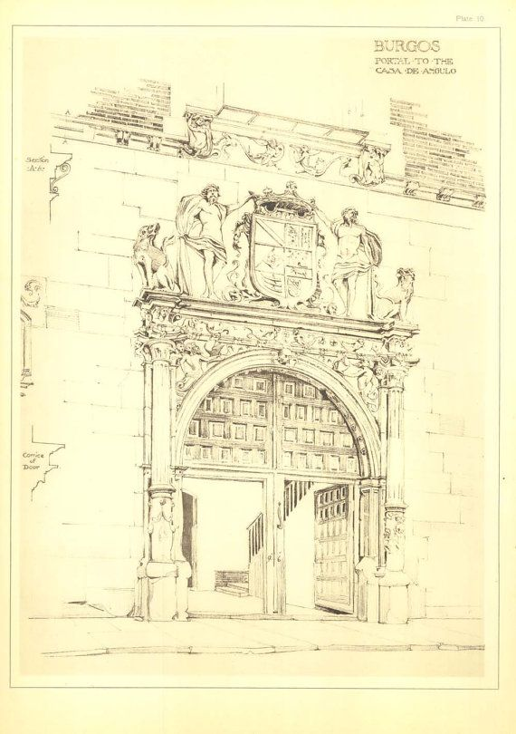 Architectural print portal to the casa de angulo burgos for Printing architectural drawings