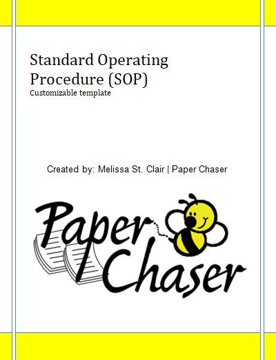 Standard Operating Procedure Sop Template Paper Chaser Standard Operating Procedure Standard Operating Procedure Template Virtual Assistant