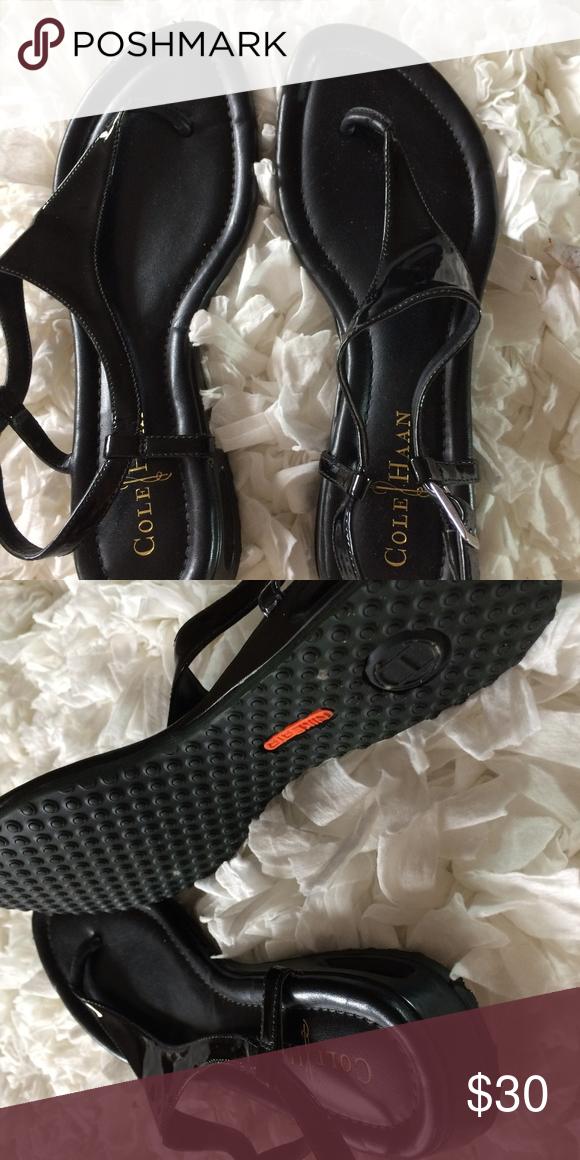 630c14fd627 EUC Cole Haan Women's Air Bria Thong 6.5 Sandal EUC Cole Haan Women's 6.5  Black Patent Air Bria Thong Sandal Nike Air Sole super comfy only worn 2-3  x sl ...
