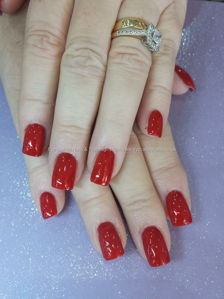 Red gel polish over acrylic nails | Her World-Pretty Girl Pink Fire ...