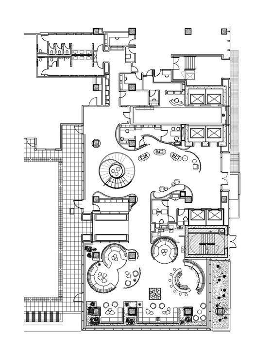 W Hotel By Burdifilek Hotels Hotel Floor Plan Hotel Lobby Design Restaurant Floor Plan