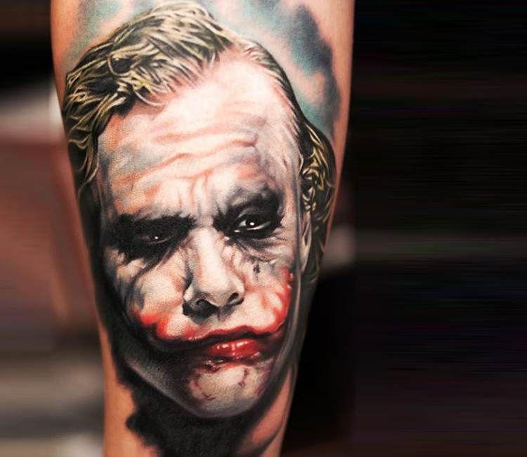 fd1151a50db5f Joker tattoo by Khan Tattoo Movie Tattoos, All Tattoos, Pretty Tattoos,  Beautiful Tattoos