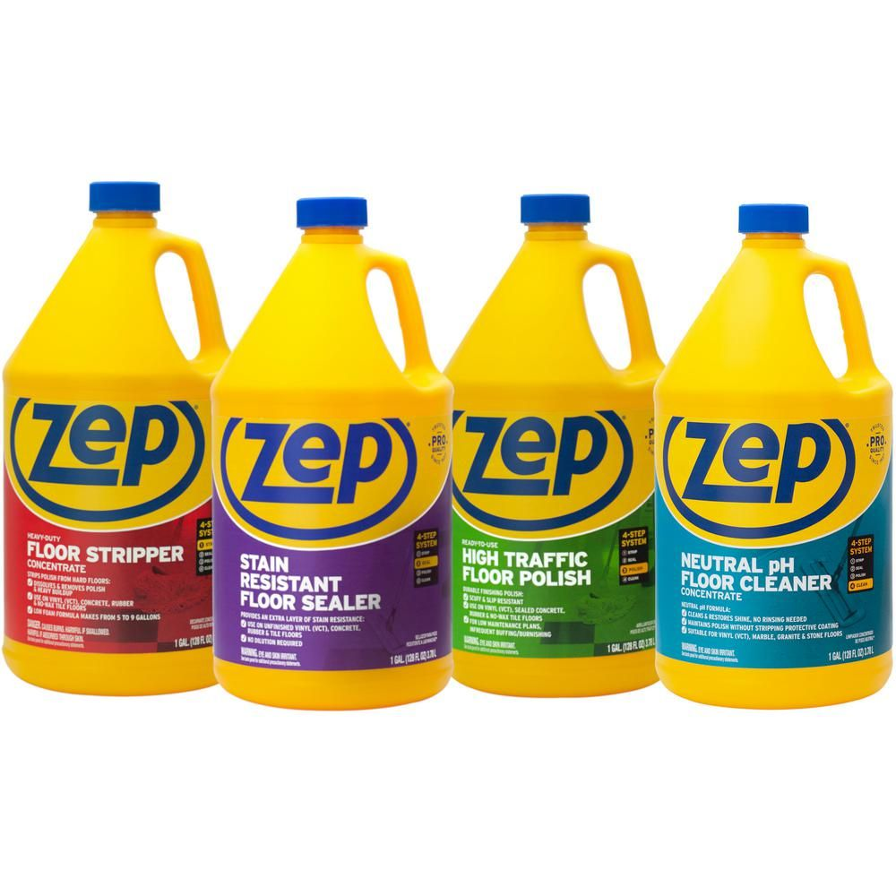 Zep 1 Gal Floor Cleaning Kit 4 Pack In 2020 Floor Cleaner Commercial Floor Cleaning Cleaning
