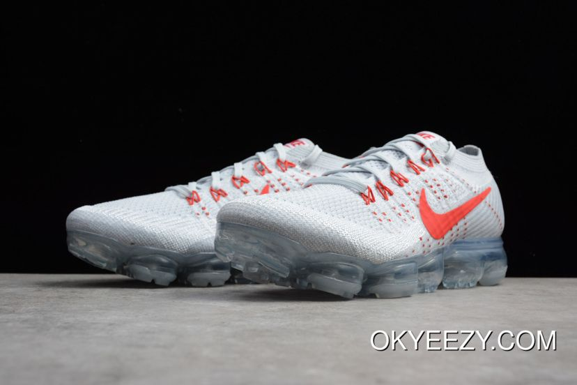 outlet store sale 85d6a 3cb18 Nike Air Vapormax Flyknit Pure Platinum University Red-Wolf Grey - Top Deals