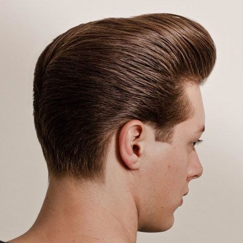 25 hottest hair styles for men classic pompaour haircut