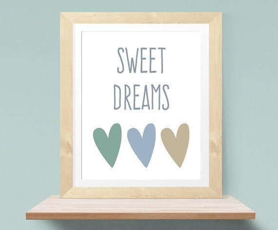 Stampe bambini ~ Sogni doro stampa vivaio arte baby nursery decor vivaio stampa