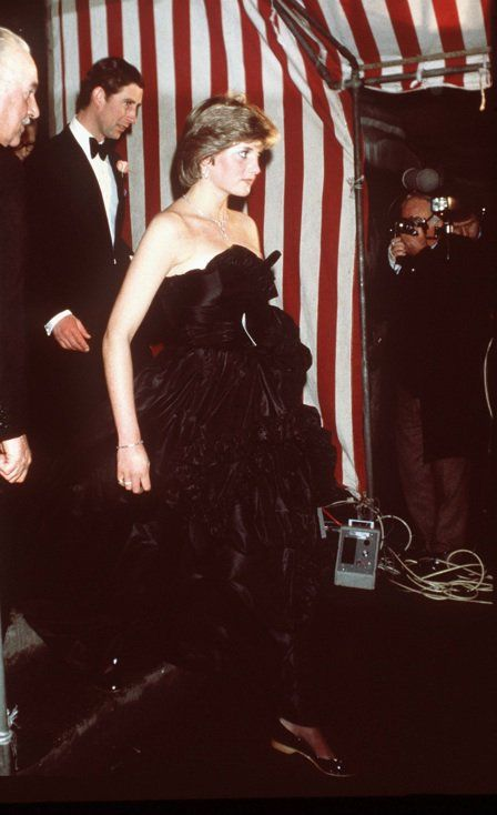 March 9, 1981: Prince Charles accompanying Lady Diana Spencer in making her first official appearance at a gala evening at Goldsmith's Hall to raise funds for the Royal Opera House in London.