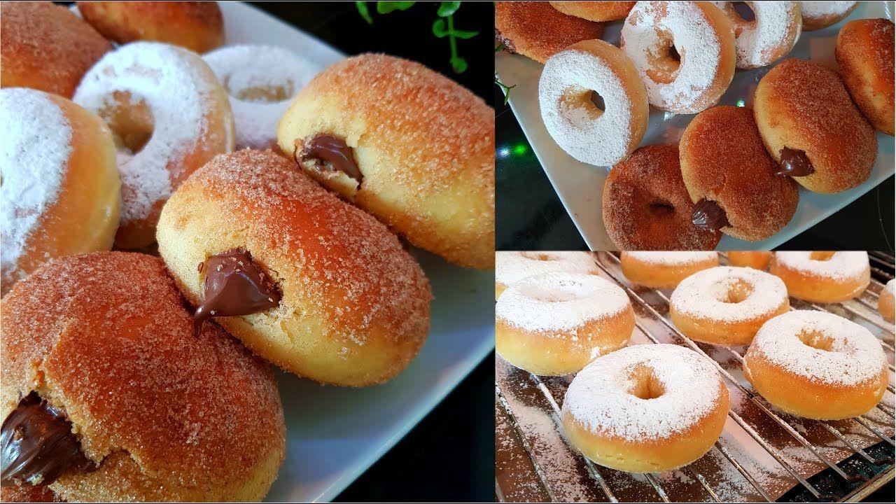 اطيب دونات بدون قلي بدون زيت بالفرن Youtube Desserts Food Doughnut
