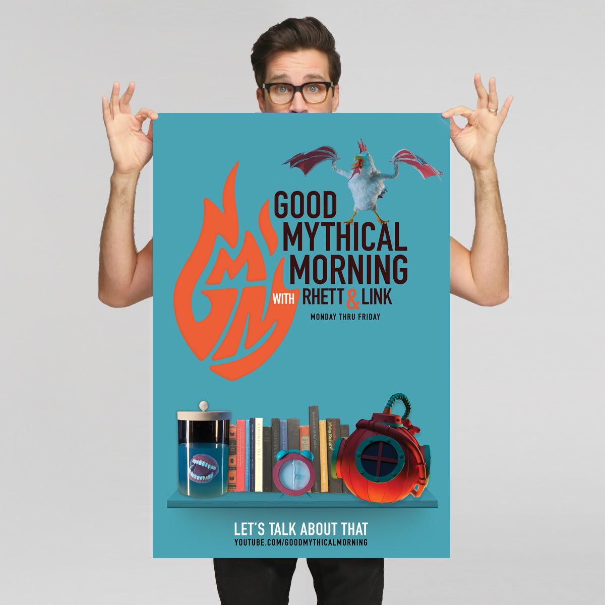 Good Mythical Morning Poster Good Mythical Morning Mythical Rhett And Link