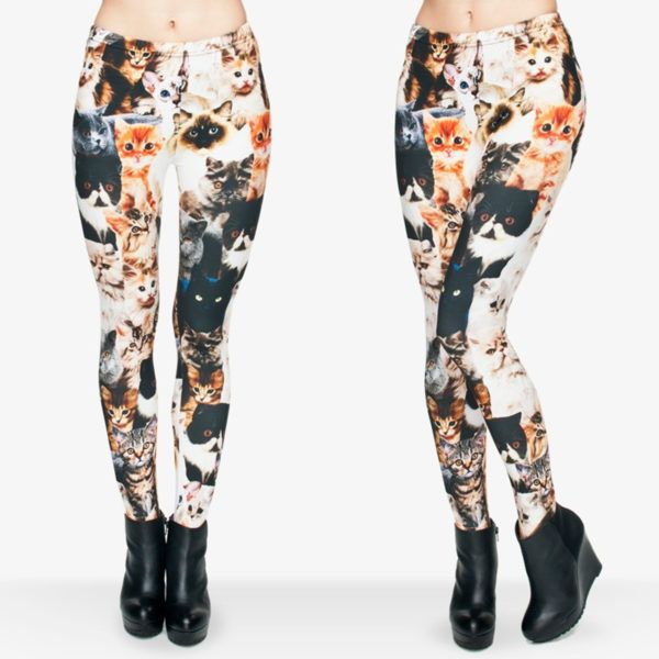 Animal Shapes Cats Casual Pants Leggings Women's fashion
