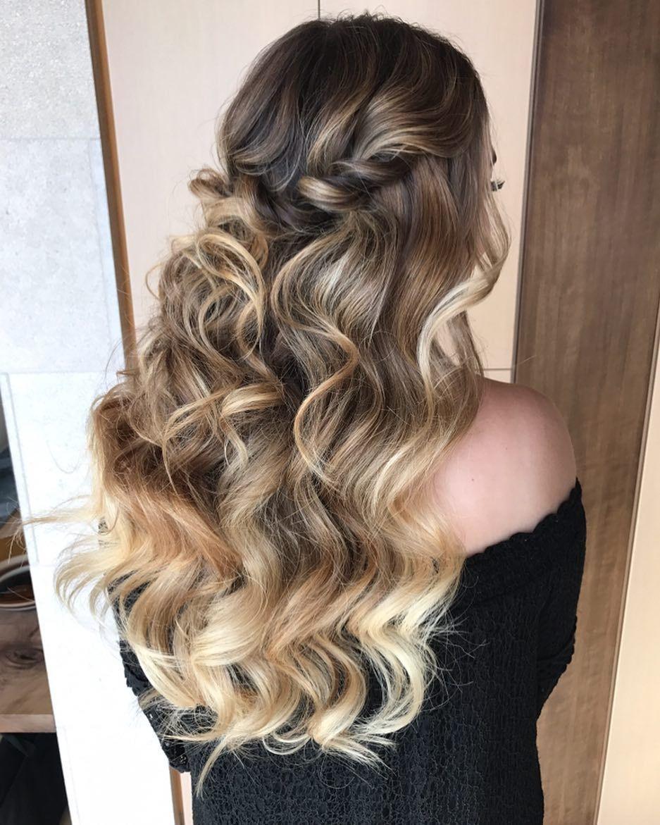 Top Half Up Half Down Wedding Hairstyles from Heidi Marie Garrett