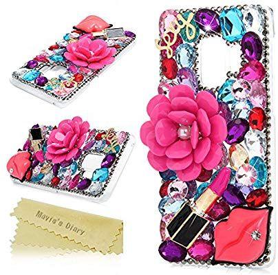 the latest 852f5 b8db8 Amazon.com: Galaxy S9 Case, Mavis's Diary Full Edge Protective ...