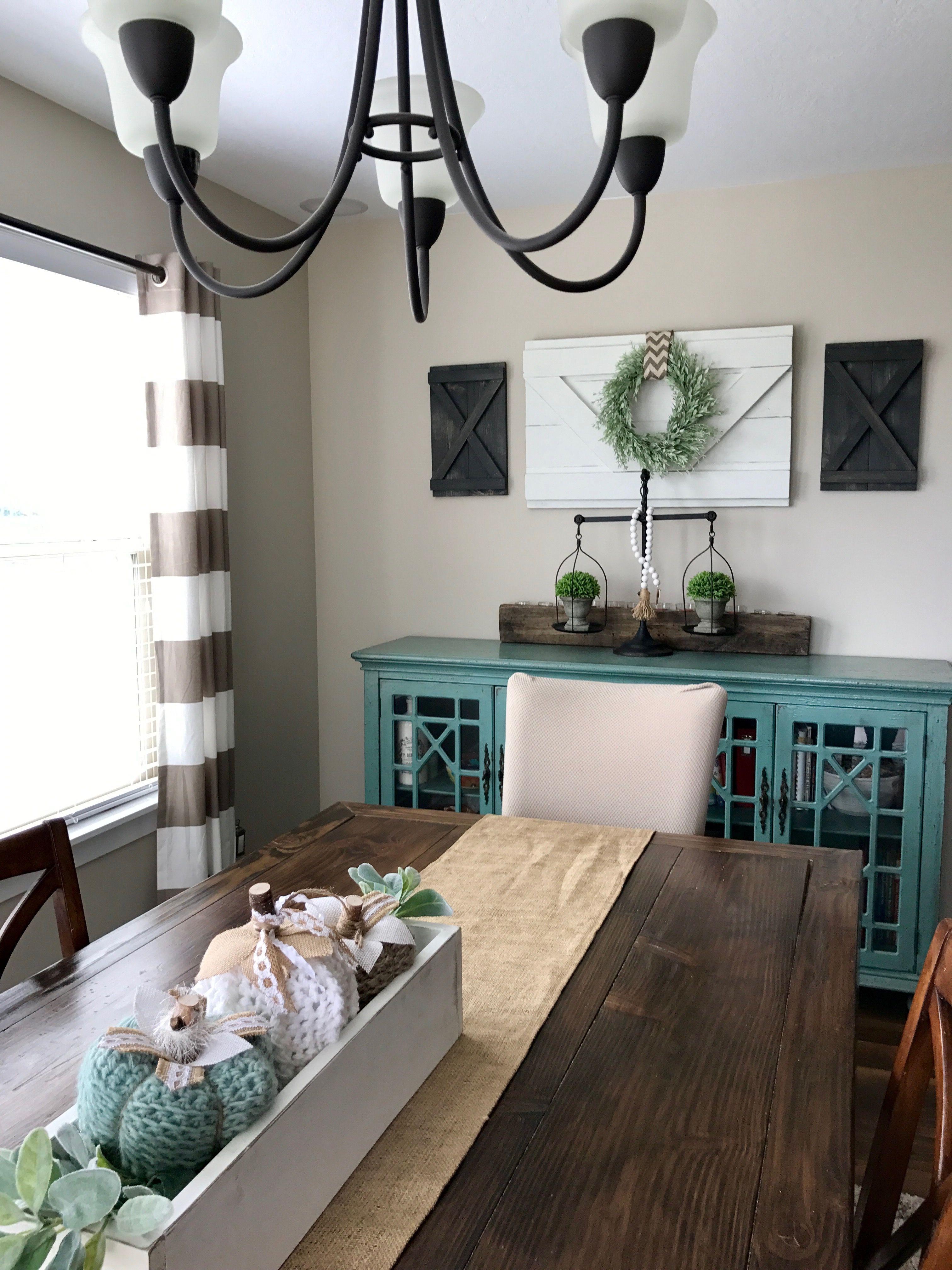 Interior Shutters. Large Wall Decor. Decorative Shutters. Wood Caddy.  Crochet Pumpkins.